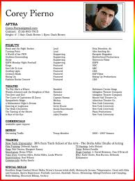 example dance resume sample acting resume template 13 actors musical theatre resume template free child musical sample musical theatre resume