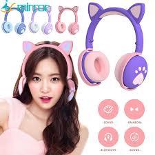 NEW <b>BK1</b> cat ear <b>headset</b> with <b>Bluetooth</b> led led led light foldable ...
