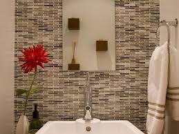 tile ideas inspire:  bathroom design zen style powder room master tile designs white basin sink and faucet vase red