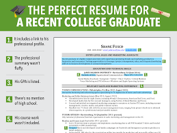 excellent resume for recent grad business insider
