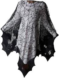 Halloween Bats Poncho with Spider Webs, Costume ... - Amazon.com