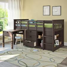 alluring black wooden storage for small room design ideas with astonishing interior brown under bunk bed bed for office