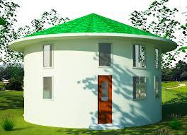 sandbag home   Earthbag House Plans   Story        meter  Roundhouse  click to enlarge
