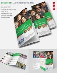 education brochure template 43 psd eps indesign format attractive education a3 tri fold brochure template