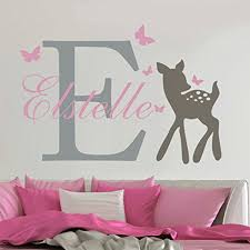 <b>YOYOYU</b> Removable <b>Custom</b> Name Elephant Butterfly <b>Wall Decal</b> for
