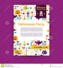halloween party holiday vector invitation template flyer stock halloween party holiday vector invitation template flyer