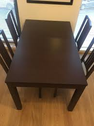 bjursta table extending dining table with  chairs ikea bjursta barje