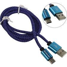 Кабель USB 2.0 A -> Type C <b>Defender USB09</b>-<b>03T PRO</b> 1 метр ...