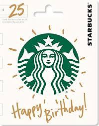 Starbucks Happy Birthday Gift Card $25: Gift Cards - Amazon.com