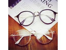 <b>Transparent white Retro</b> Myopia <b>Eyeglasses</b> Frame Female Eye ...
