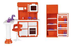 Огонек <b>Набор мебели</b> для кукол <b>Кухня</b> Конфетти цвет оранжевый