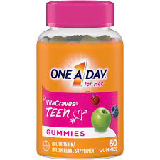 One A Day VitaCraves <b>Teen</b> for Her <b>Multivitamin</b> Gummies, 60 Count