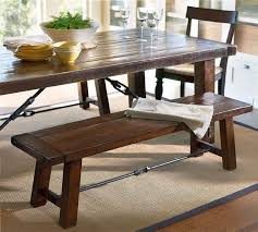 small dining bench:  large size of tables amp chairs sturdy rectangle dining room table with bench dark hardwood