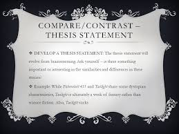 compare and contrast essay in which fahrenheitand your
