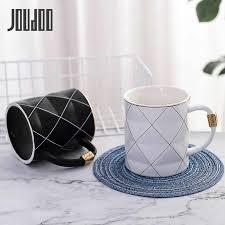 <b>JOUDOO</b> Luxury Marble Pattern <b>Ceramic</b> Mugs Gold Plating MRS ...