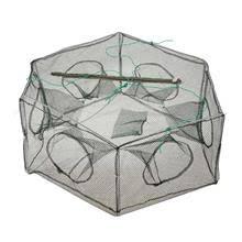 Foldable Fishing Net Hexagon 6 Hole Fishing Net <b>Shrimp Cage</b> ...