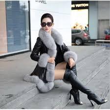 High Quality Warm Latest Winter <b>Female Sheepskin</b> Coats Pure ...