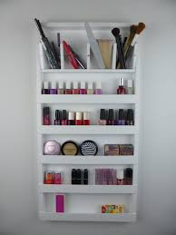 diy makeup wall organizer home builders systems awesome diy makeup