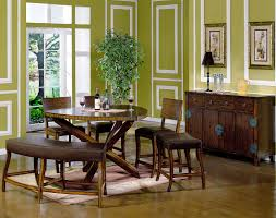 Dining Room Tables With Bench Round Dining Room Sets Decorating Modern Dining Room Furniture