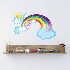 Rainbow Wall Stickers For Kid Room <b>Removable Vinyl Wall</b> Decals ...