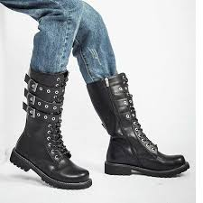 <b>Motorcycle Boots Men Genuine</b> Leather Military Winter Boots With ...