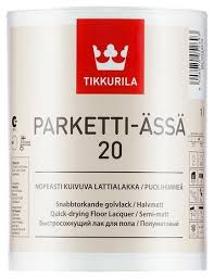 <b>Лак Tikkurila Parketti Assa</b> 20 (1 л) полиуретановый — купить по ...