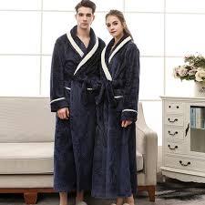 Long Bathrobe <b>Autumn and Winter Thickening</b> Female Pajamas ...
