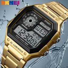 <b>SKMEI 1220</b> Fashion Casual Men Watch <b>Digital</b> Dual Time Sports ...