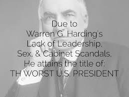 「scandals of Warren G. Harding」の画像検索結果