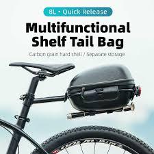 ROCKBROS <b>Bike Bag</b> Waterproof <b>Hard</b> Shell Hang Rear Reflective ...