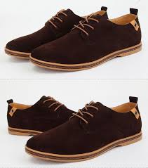 Suede <b>European</b> style leather Shoes Men's oxfords <b>Casual</b> Multi ...