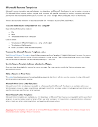 Resume Examples Simple Resume Template Microsoft Word Work. resume ... Resume Examples Simple Resume Template Microsoft Word Work