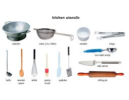 kitchen utensil: cool kitchen utensil that has a broad flat blade with narrow holes in picture of at property  kitchen utensils names and uses
