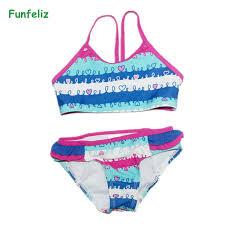 2019 <b>Funfeliz</b> Girls <b>Swimsuit</b> Cute Character <b>One Piece Swimwear</b> ...