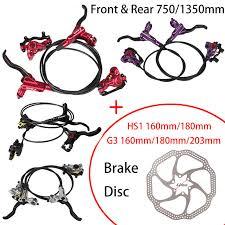 <b>ZOOM Mountain Bike Hydraulic Disc</b> Brake Set Front & Rear <b>750</b> ...