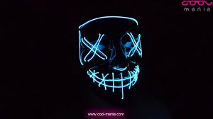 Purge <b>halloween mask</b> - <b>LED</b> light blue (www.cool-mania.com ...