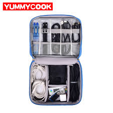 Travel Cable <b>Bag Portable</b> Digital USB Gadget Organizer Charger ...