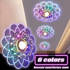 Universal <b>110V</b>-<b>220V</b> Modern Crystal <b>LED Ceiling</b> Lighting Living ...