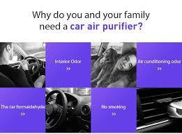 HEPA Filter Car Air Purifier Negative Ion Generator Freshener Air ...