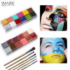 <b>IMAGIC</b> 12 Flash Colors case <b>Tattoo</b> Face <b>Body Paint</b> Halloween ...