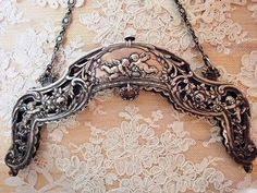 """Ähnliche Artikel wie Purse frame 800 silver 1800's 6"""" wide auf Etsy ..."""