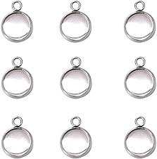 Stainless Steel Bezel Pendant Trays Cabochon ... - Amazon.com