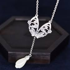 S925 pure silver necklaces for women to restore ancient ... - Qoo10