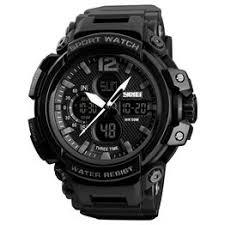 SKMEI 1343 50m Waterproof Men's Digital Sports Watch - Black - Vova