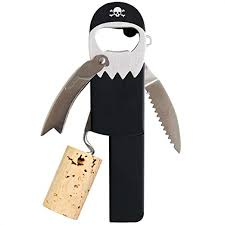 Suck UK Legless Pirate Beer Corkscrew Wine Bottle ... - Amazon.com