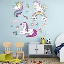 <b>Cartoon Pattern</b> Wall Stickers <b>Unicorn Pattern</b> Wall Stickers Crown ...