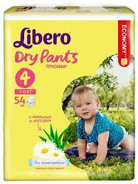 <b>Libero</b> трусики <b>Dry</b> Pants 4 (7-11 кг) 54 шт. — купить по выгодной ...