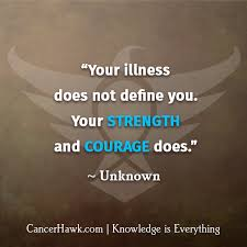 Motivational Fighting Cancer Quotes | CancerHawk via Relatably.com