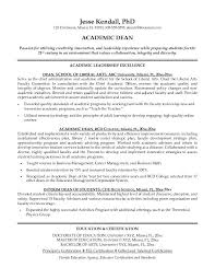 academic resume sample   out of darknessexample academic dean resume   free sample