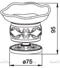 <b>Мыльница Hayta Gabriel</b> 13916-2/BRONZE настольная бронза ...